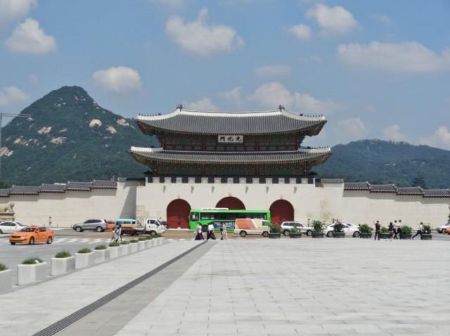 韓国 光化門 近づいてきた