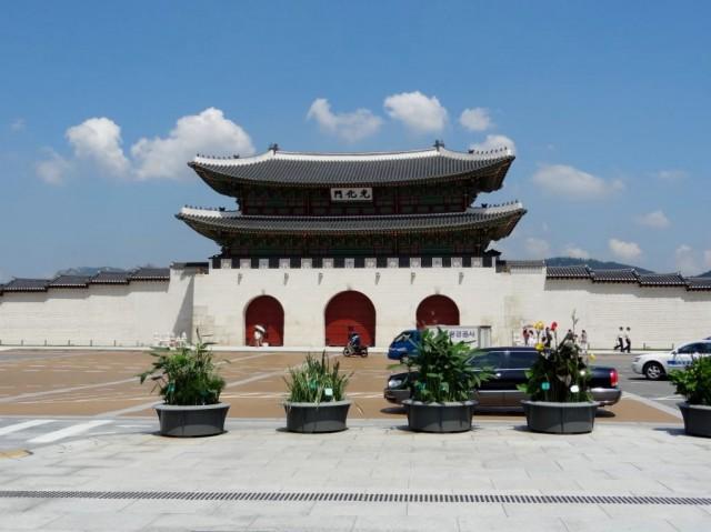 韓国 光化門  綺麗な門