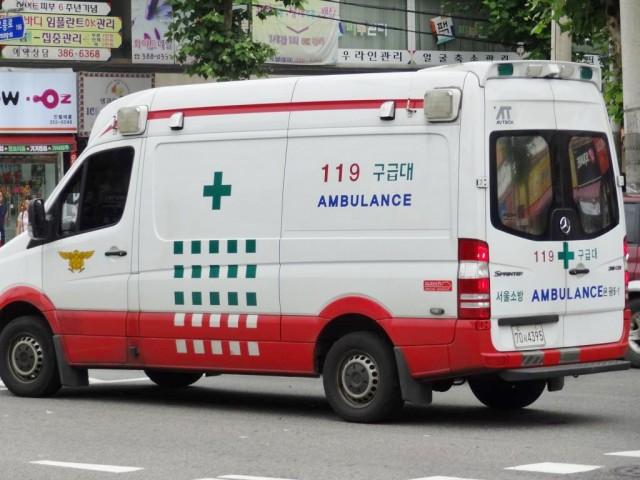 韓国の救急車 ズーム