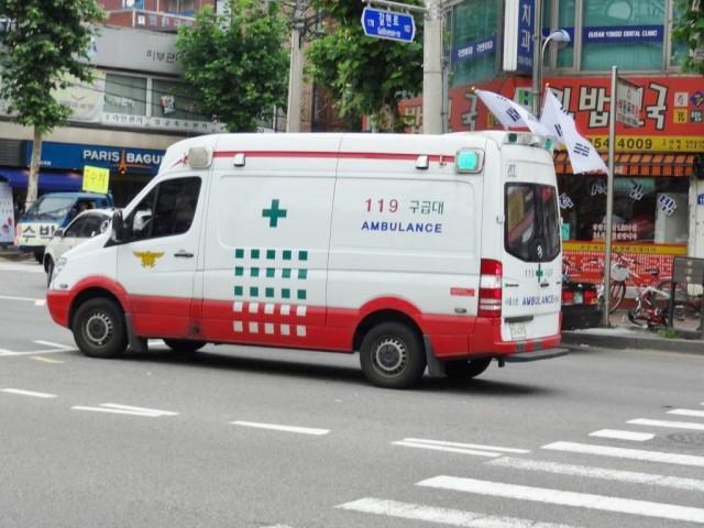 韓国の救急車 ボディ