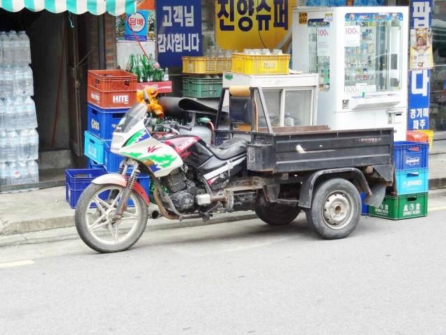 韓国のバイク リアカー