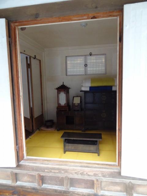 伝統家屋 両班(ヤンバン)内部