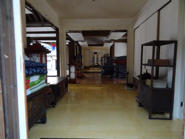 伝統家屋 両班(ヤンバン)内部廊下