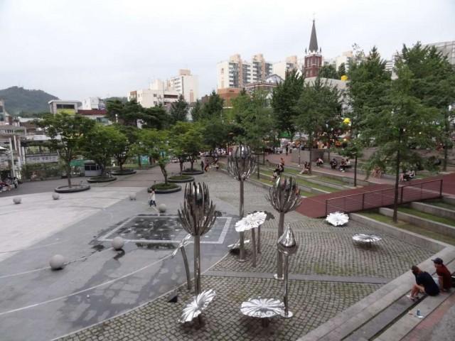 デパートの広場