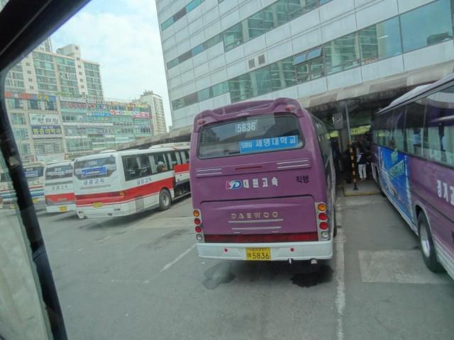忠清北道 忠州(チュンジュ)バス出発