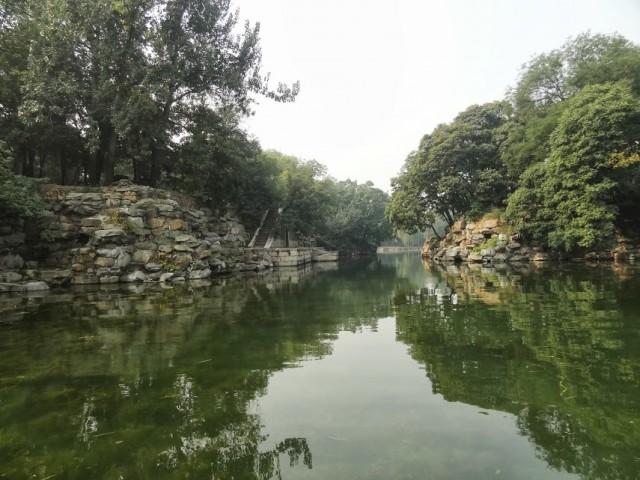 頤和園 后湖 船 石垣