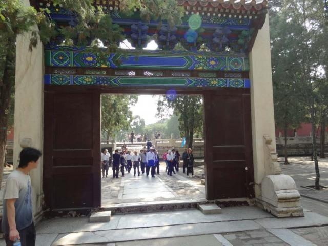明の十三陵 定陵 陰陽門