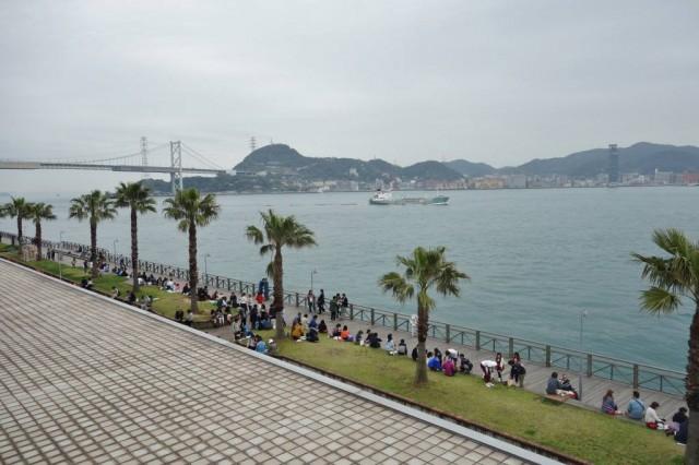 唐戸市場 関門海峡を見ながら寿司を食べる(最高)