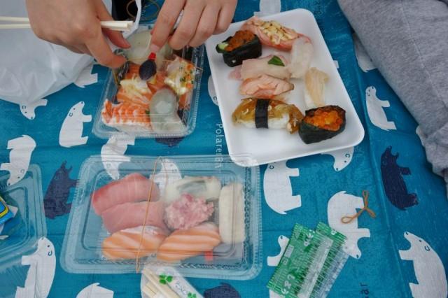 唐戸市場 寿司2回戦目 本腰を入れて大量食い