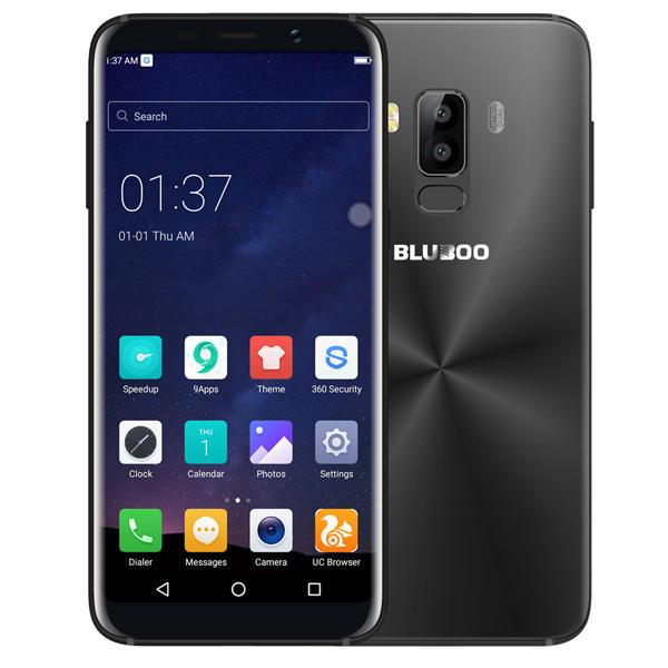 BLUBOO S8 MTK6750T 1.5GHz 8コア BLACK(ブラック)