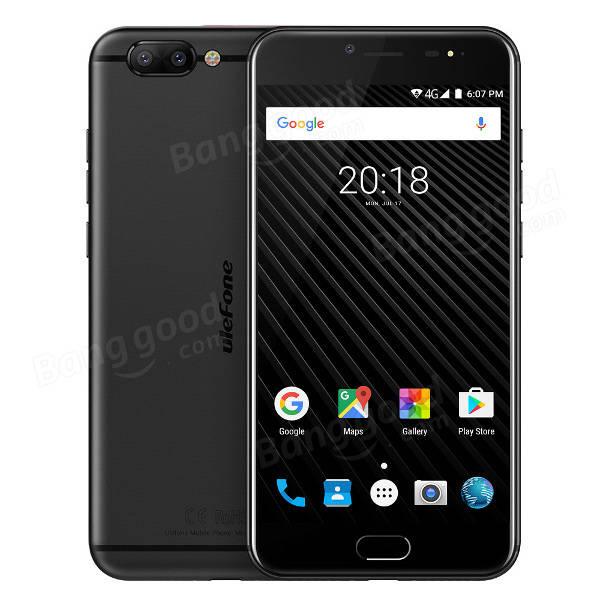 Ulefone T1 MTK6757T Helio P25 2.5GHz 8コア BLACK(ブラック)