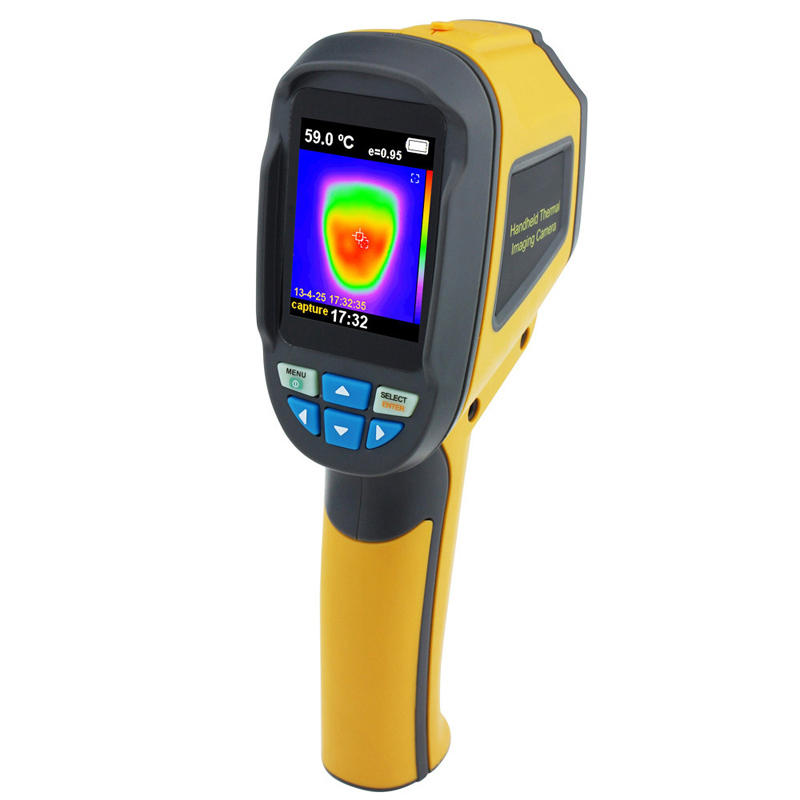 HT02Handheld Thermograph Camera Infrared Thermal Camera Digital Infrared Imager Temperature Tester with 2.4inch Color LCD Display