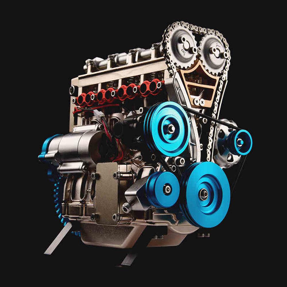 Teching V4 DM13 Four-Cylinder Stirling Engine Full Aluminum Alloy Model Collection