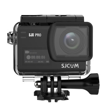 SJCAM SJ8 PRO 4K 60fps Action Camera Dual Screen Sport Camera DV Ambarella H22 Chipset Big Box - Black