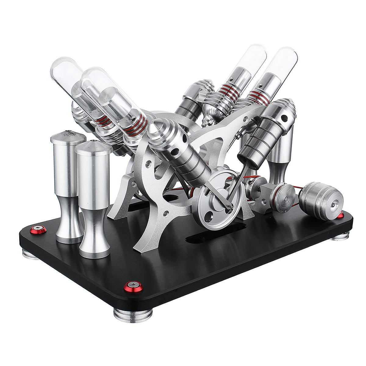SaiDi STEM Four-cylinder Engine External Combustion V4 Stirling Engine Model