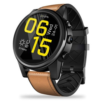 Zeblaze THOR 4 Pro Built-in GPS 4G Wifi 1.6 inch LTPS Crystal Display 1+16G Android7.1 600mAh Leather Strap Watch Phone - Brown