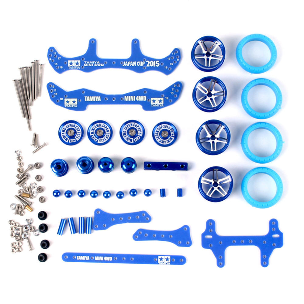 1 Set MA/AR Chassis Modification Set Kit With FRP Parts For Tamiya Mini 4WD RC Car Parts With Wheel -