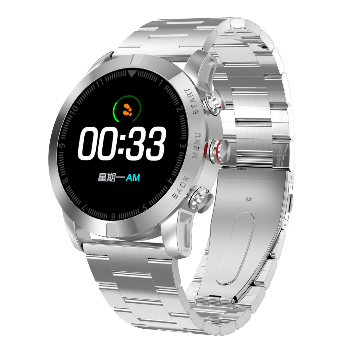 DT NO.1 S10 Full Touch Wristband PPG+HRV Heart Rate Blood Pressure Monitor Large Battery Caller ID Display Sport Smart Watch