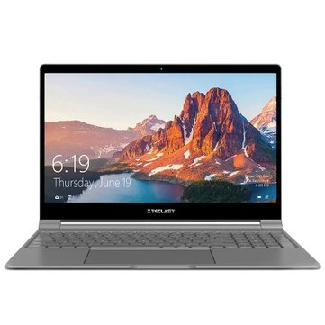 Teclast F15 Laptop 15.6 inch Intel N4100 8GB 256GB SSD 7mm Thickness 91% Full View Display Backlit Notebook - Silver