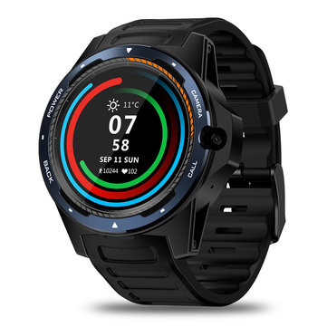 Zeblaze THOR 5 Dual Chipset Technology 4G LTE Global Bands 800w Front-facing Camera 2+16G WIFI GPS 1.39' AMOLED Smart Watch Phone - Blue