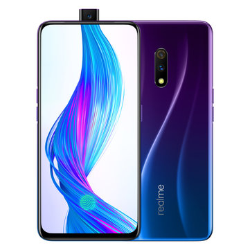 Realme X 6.53 Inch FHD+ AMOLED 3765mAh 8GB RAM 128GB ROM Snapdragon 710 Octa Core 2.2GHz 4G Smartphone - Punk Blue Chinese Version