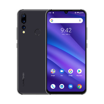 UMIDIGI A5 Pro Global Version 6.3 Inch FHD+ Waterdro Display Android 9.0 4150mAh Triple Rear Cameras 4GB 32GB Helio P23 4G Smartphone - Crystal Blue EU Version