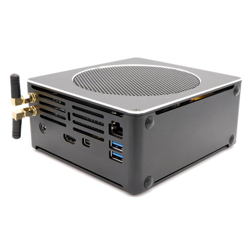HYSTOU S200 Mini PC i7 8750H 8 Gen Barebone Quad Core Win10 DDR4 Intel UHD Graphics 630 4.1GHz Mini Desktop PC SATA mSATA MIC VGA HDMI