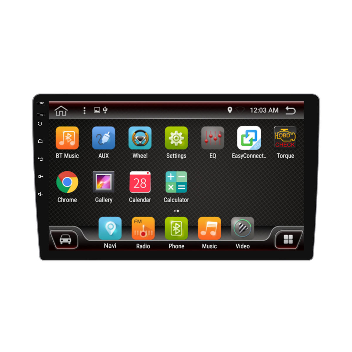PX6 10.1 Inch 1 DIN 4+64G for Android 9.0 Car MP5 Player 8 Core Touch Screen Stereo GPS bluetooth RDS FM AM Radio