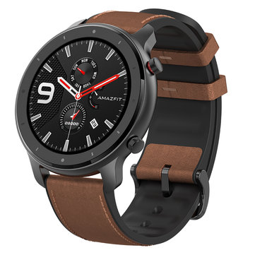 Amazfit GTR 47MM AMOLED Smart Watch GPS+GLONASS 12 Sports Mode 5ATM Wristband International Version from xiaomi Eco-System