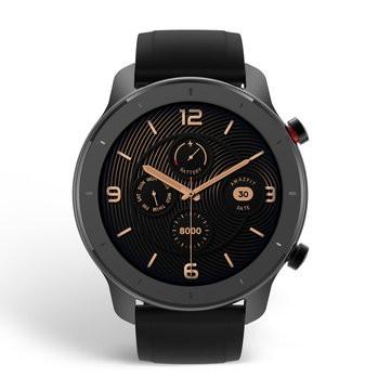 [bluetooth 5.0]Amazfit GTR 42MM AMOLED Smart Watch GPS+GLONASS 12 Sports Mode 5ATM Music Control Wristband Global Version - Black