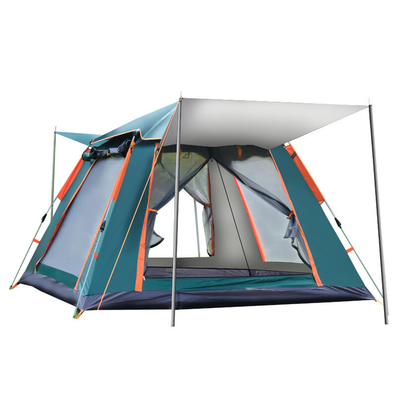 XMUND Outdoor Automatic Tent 4 Person Family Tent Picnic Traveling Camping Tent Outdoor Rainproof Windproof Tent Tarp Shelter