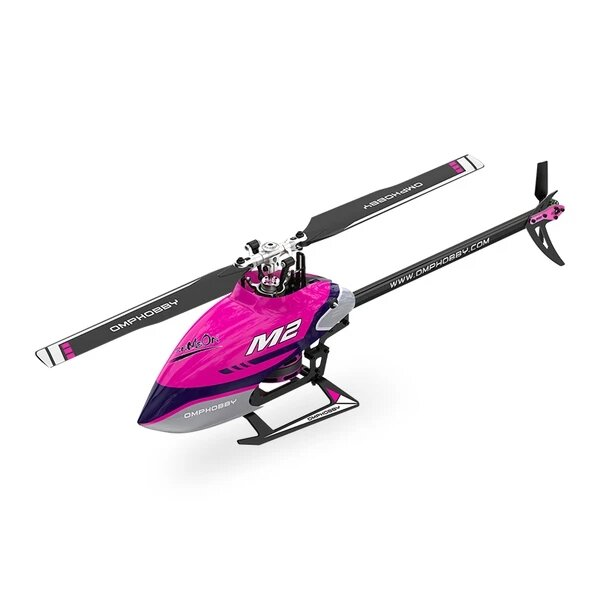 OMPHOBBY M2 V2 6CH 3D Flybarless Dual Brushless Motor Direct-Drive RC Helicopter BNF with Open Flight Controller