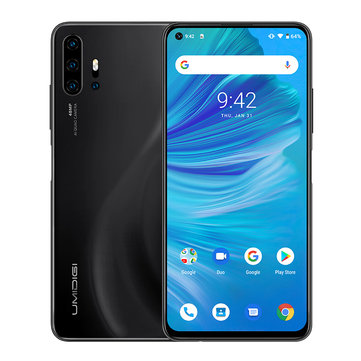 UMIDIGI F2 Global Bands 6.53 inch FHD+ Android 10 NFC 5150mAh 48MP Quad Rear Cameras 6GB 128GB Helio P70 Octa Core 4G Smartphone - Midnight Black EU Version