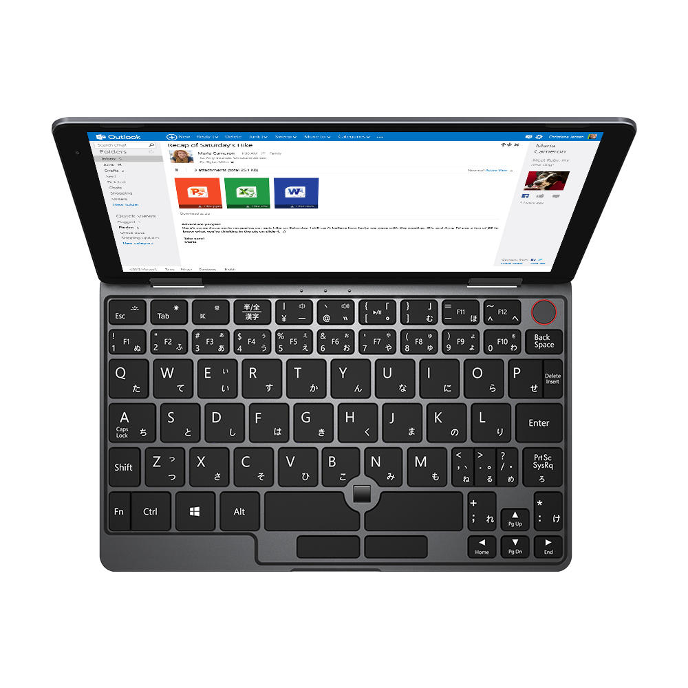 Japan Version Original Box CHUWI MiniBook Intel Gemini Lake N4100 8GB RAM 128GB EMMC 128GB SSD 8 Inch Windows 10 Tablet