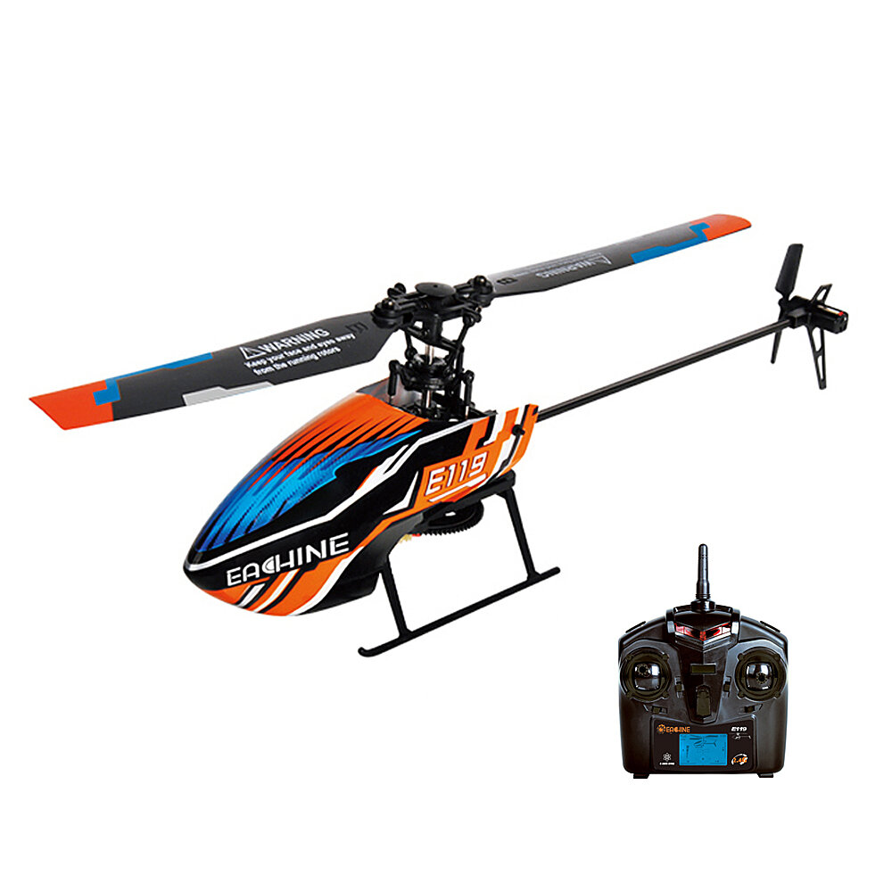 15% OFF for Eachine E119 2.4G 4CH 6-Axis Gyro Flybarless RC Helicopter RTF