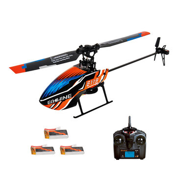 18% OFF for Eachine E119 2.4G 4CH 6-Axis Gyro Flybarless RC Helicopter RTF 3pcs 4pcs Batteries Version