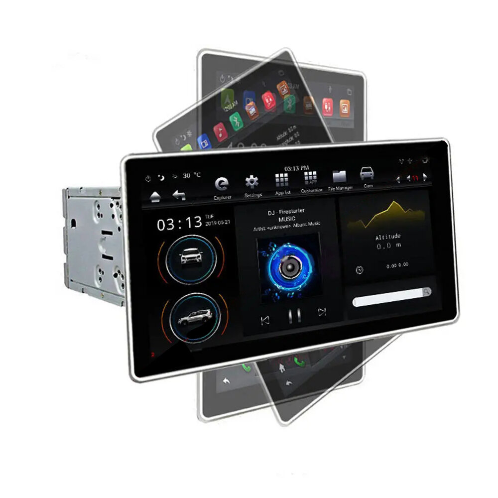 PX6 12.8 Inch for Android 8.1 Car Stereo Radio 180 Degree Rotable IPS Touch Screen 4G+32G GPS WIFI 3G 4G FM AM Support Vehicle Balance Detection - 4G+32G