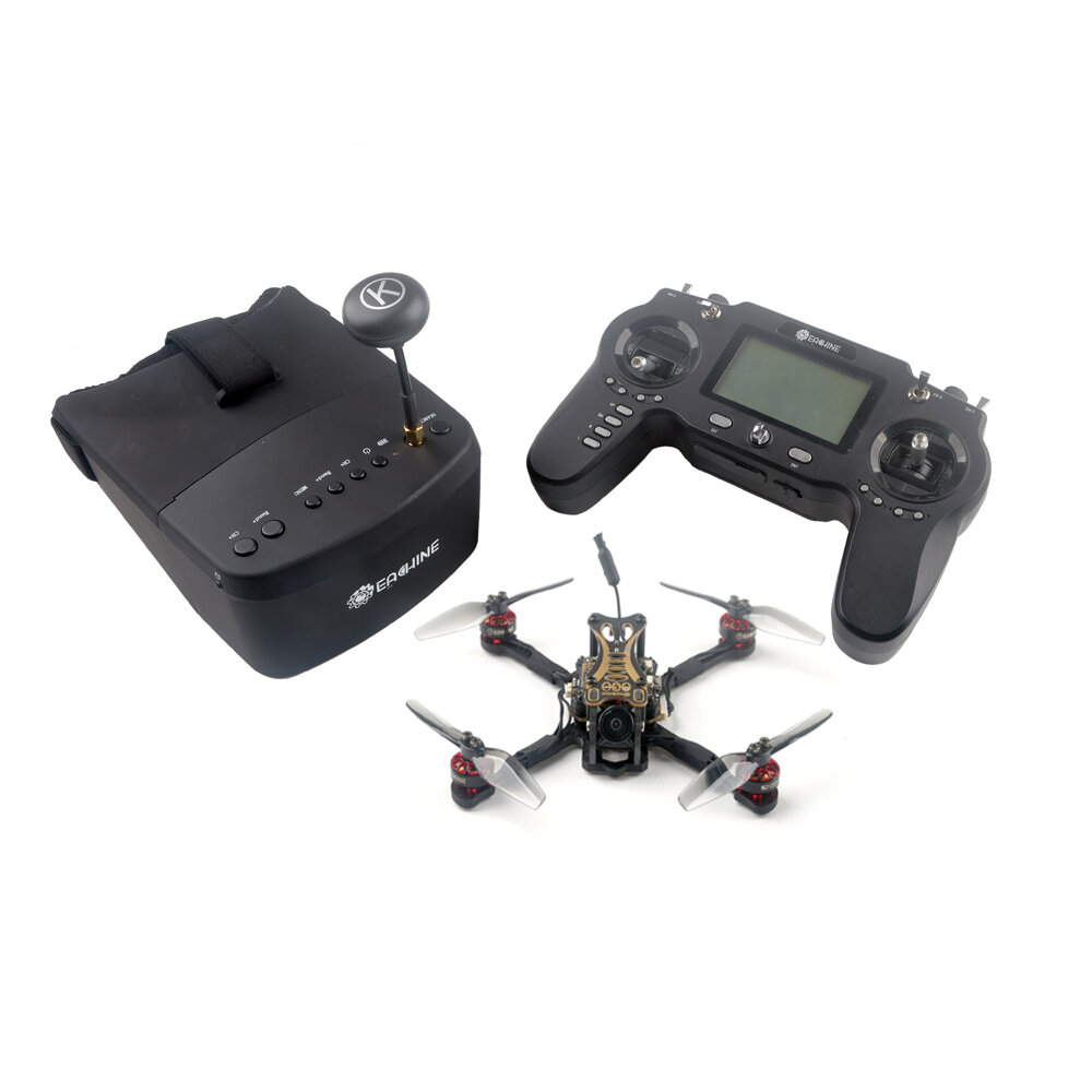 Eachine Novice-III 135mm 2-3S 3 Inch FPV Racing Drone RTF & Fly more w/ 5.8G 40CH EV800 Goggles 2.4G ER8 Transmitter