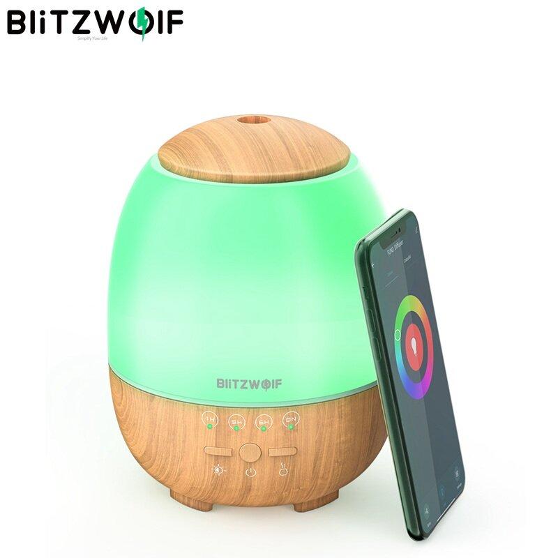 BlitzWolf® BW-FUN3 Wi-Fi Essential Oil Diffuser Ultrasonic Aromatherapy Humidifier APP Control Amazon Alexa Google Home Control with 7 Colorful Light