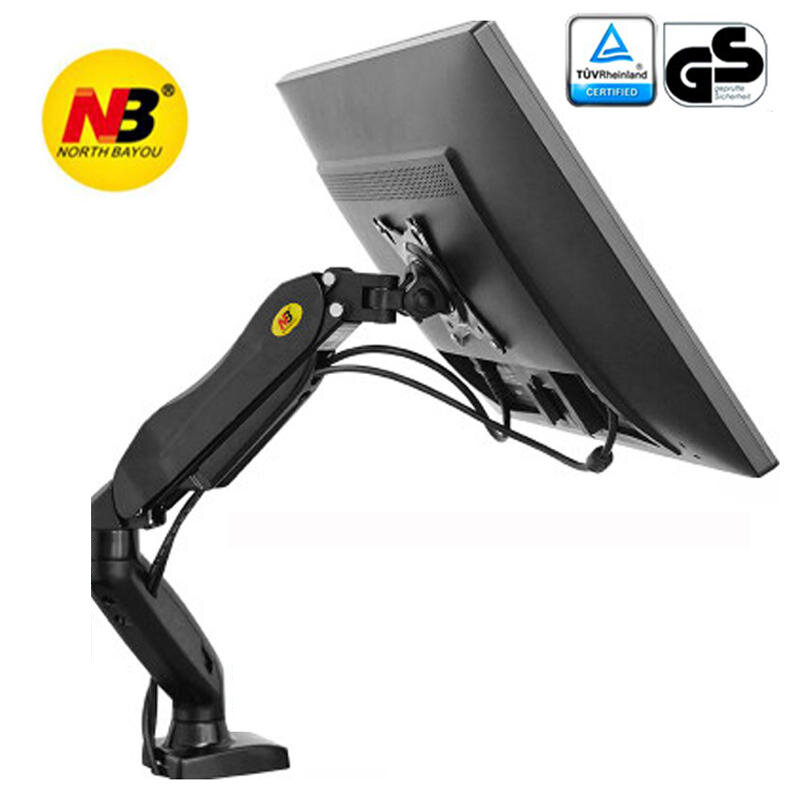 NB F80 Monitor Laptop Stand Gas Spring clamp grommet base PC desk holder Support 10-27