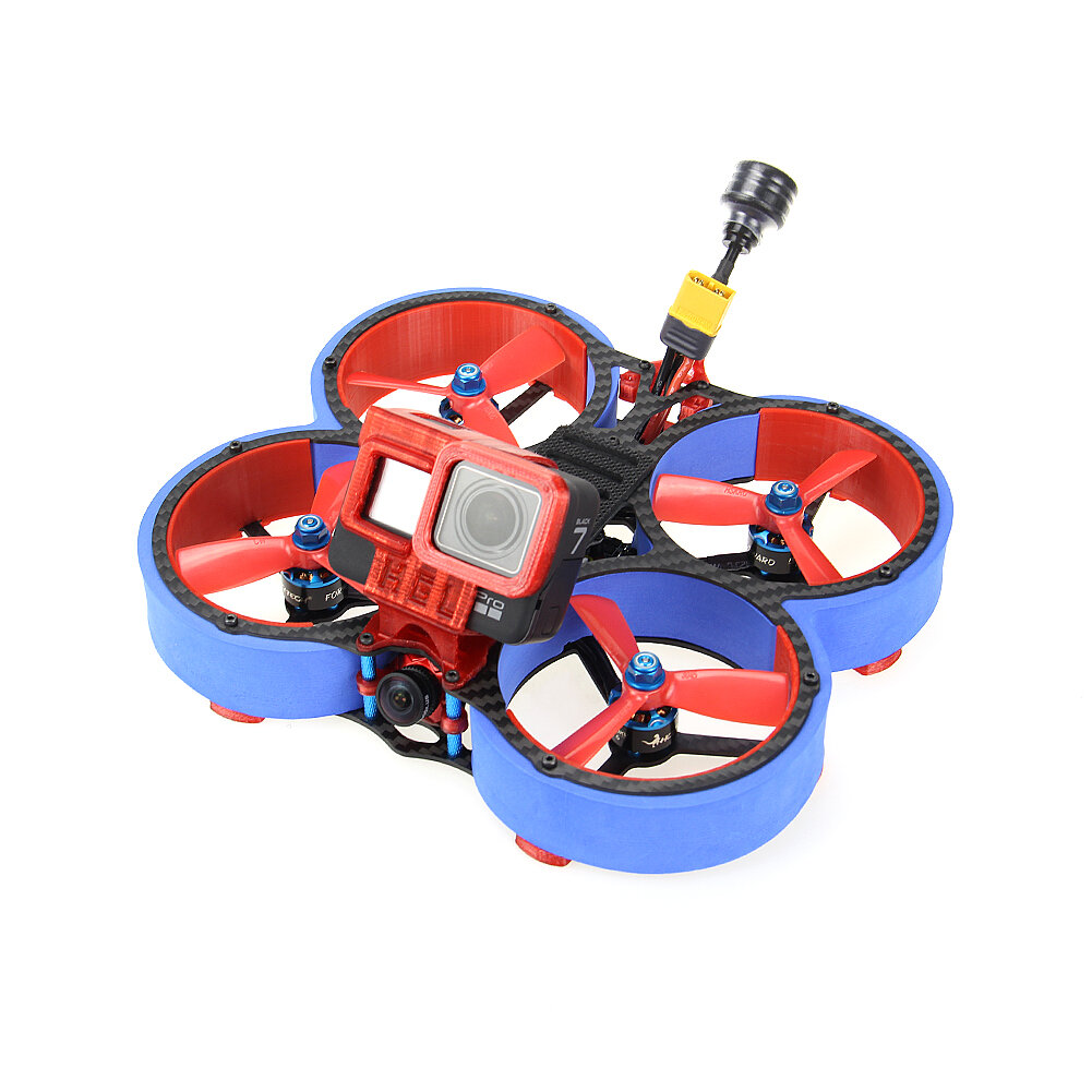 HGLRC Veyron 3 Cinewhoop 3Inch 136mm 4S FPV Racing Drone With EVA Pipeline ZEUS35 AIO 600mW VTX 1408 Motor Caddx Ratel Camera