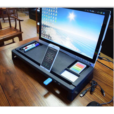 Monitor Laptop Stand Muti function Organizer With USB hub