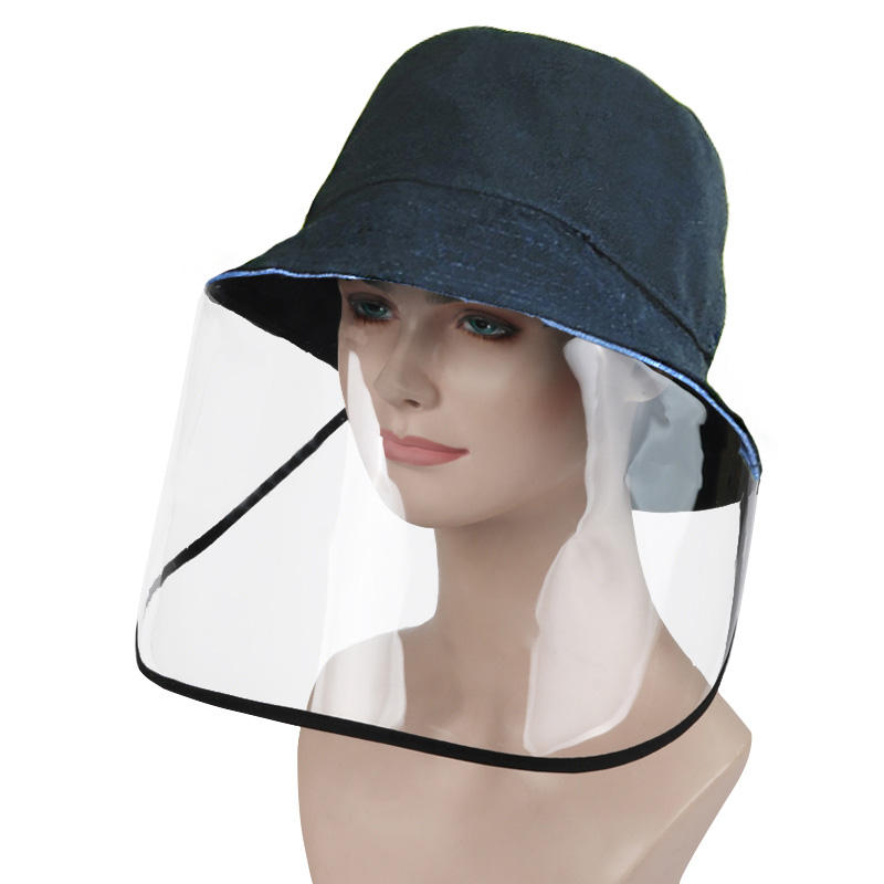 ZANLURE Transparent Protective Mask Hat Anti-virus Windscreen Mask Anti-foaming Splash Proof Fisherman Hat