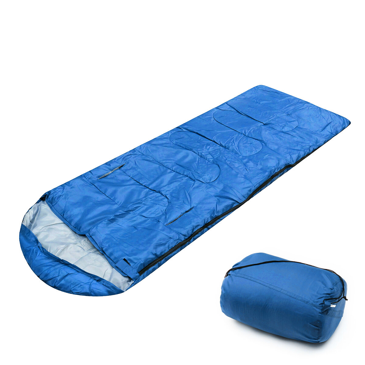 10x75CM Waterproof Camping Envelope Sleeping Bag Outdoor Hiking Backpacking Sleeping Bag with Compression Sack Case