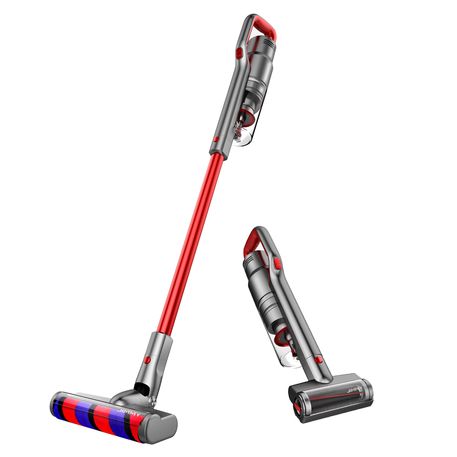 JIMMY JV65 Handheld Cordless Stick Vacuum Cleaner 22000Pa Suction Power Vacuuming and Mopping Dust Collector Digital Motor 145AW Lightweight for Home Hard Floor Carpet Car Pet