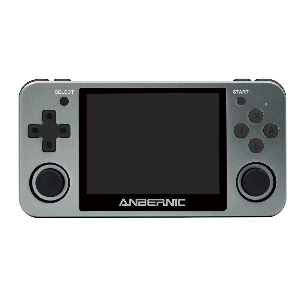 ANBERNIC RG350M 3.5 inch IPS Screen 64Bit DDR2 512M 16GB 3000+ Games Retro Handheld Video Game Console Player for PS1 GBA FC MD - Grey
