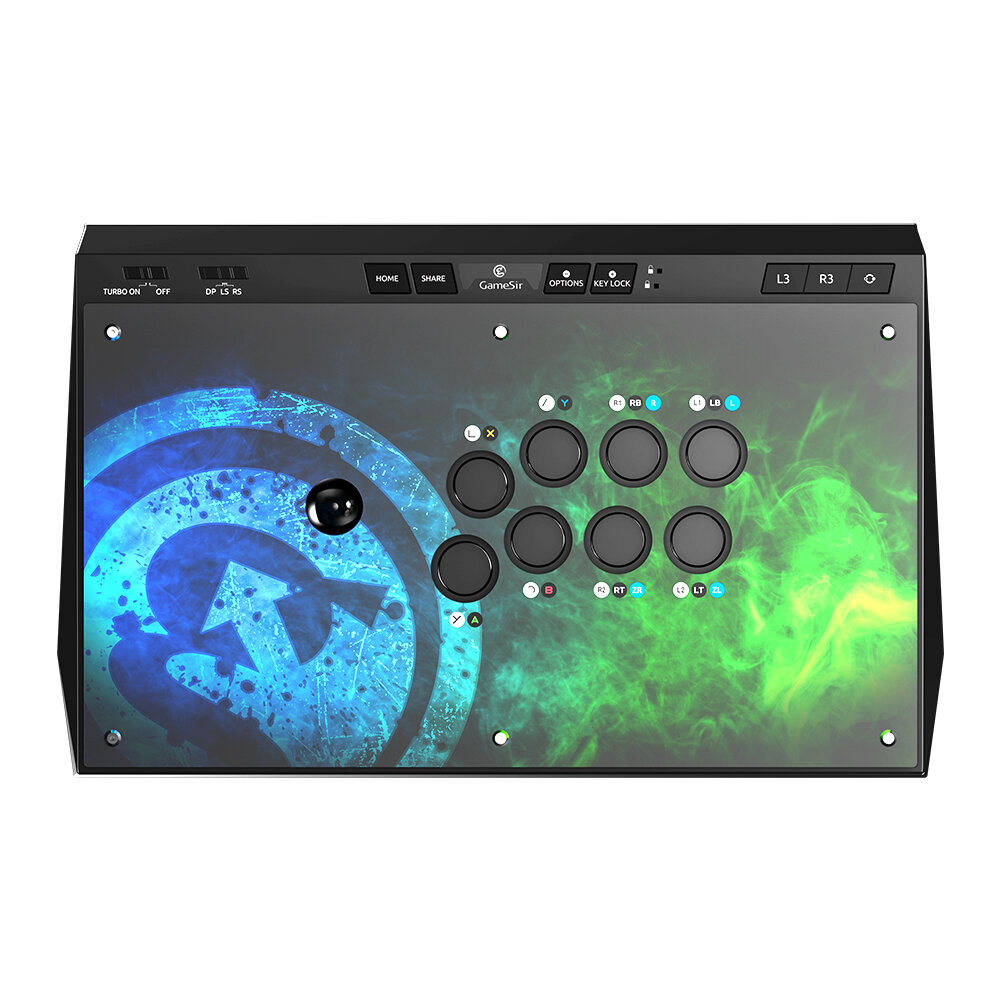 GameSir C2 Arcade Fightstick Joystick Game Controller for Xbox One for PS4 Windows PC and Android Device