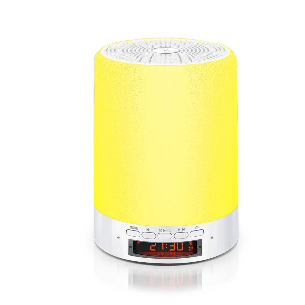 DIGOO DG-663 Touch Sense Small Desk Lamp USB Charging Bluetooth Speaker Night Light for Bedroom Decoration Travel Hanging Light - White