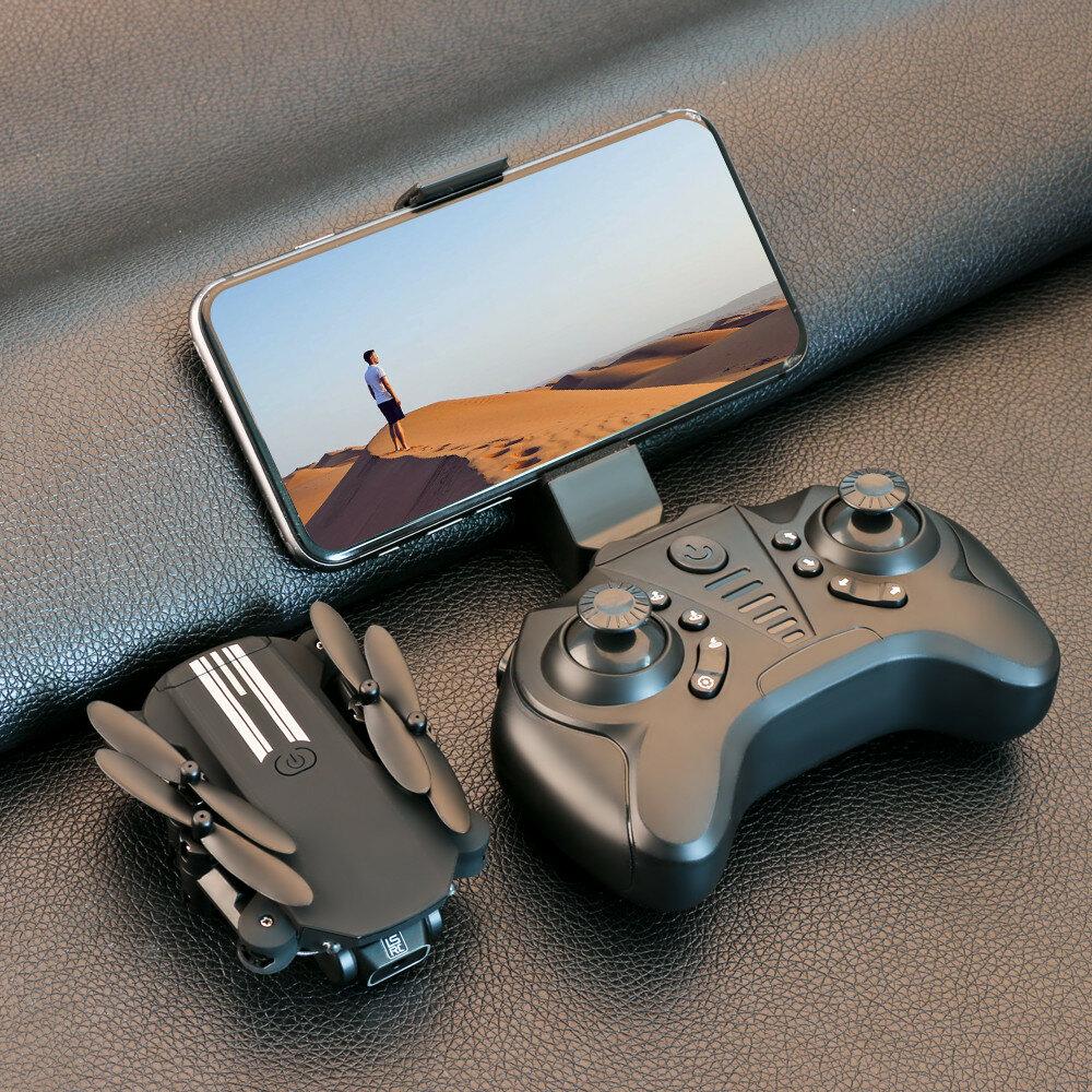 LS-MIN Mini WiFi FPV with 4K/1080P HD Camera Altitude Hold Mode Foldable RC Drone Quadcopter RTF