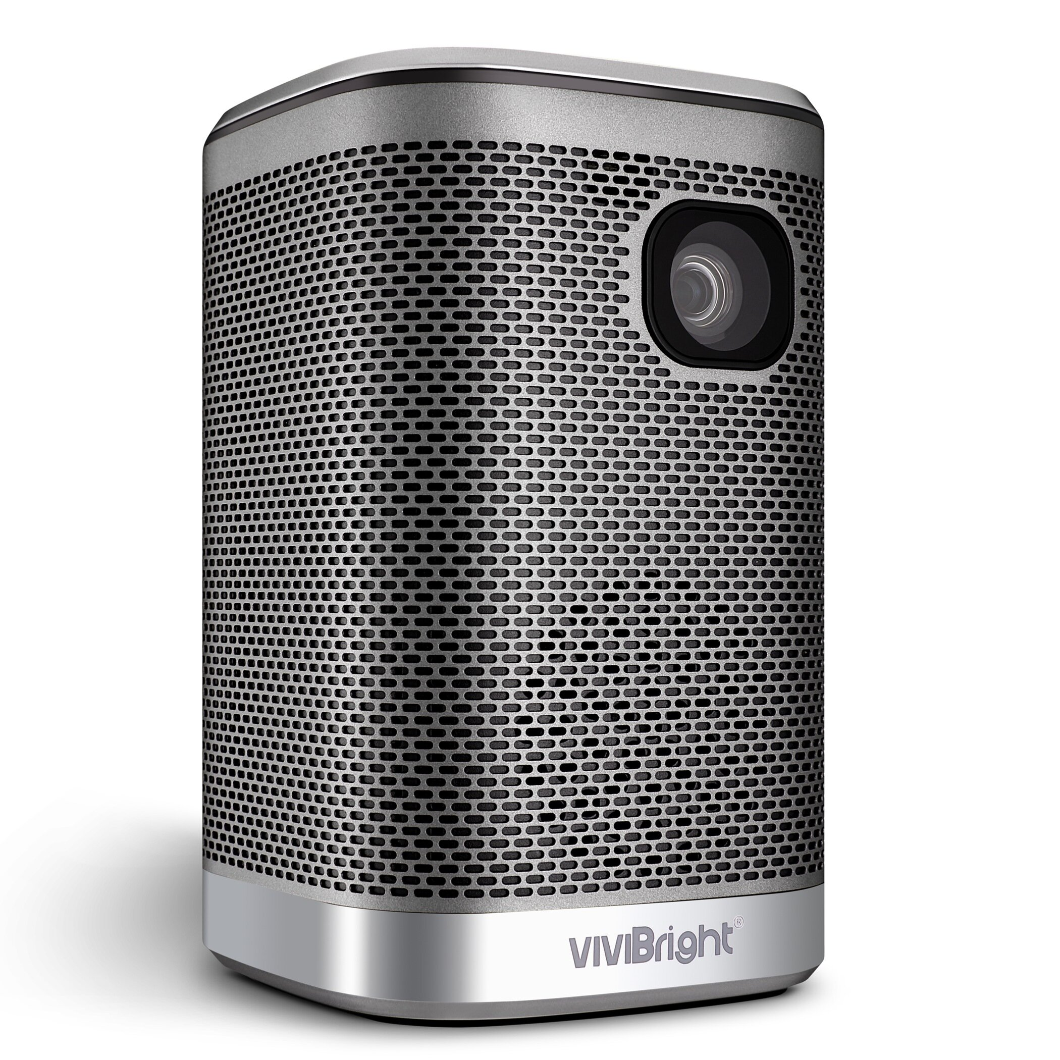 Vivibright L2 Portable Projector 4500Lumens 12000mAH Battery HIFI Speaker for 3D LED Beamer Support 4K Home Cinema Projector Same Screen Version